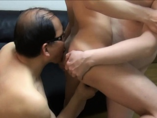 Asian Twink Pain In The Neck Fingers Superannuated Man